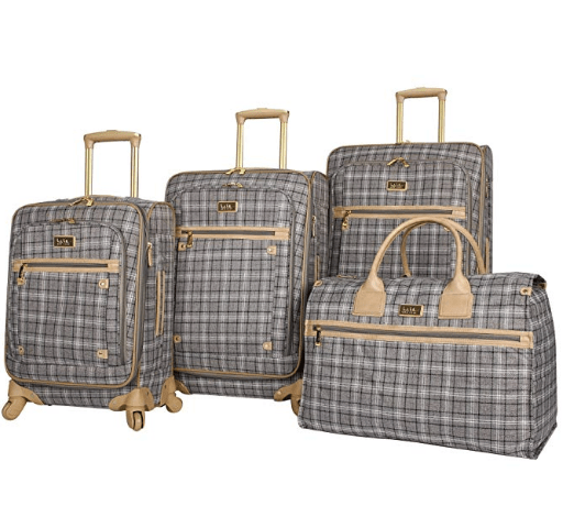 This Set Of Nicole Miller Luggage Has A Lovely And Classic Plaid Print That Will Get Her Noticed In Any Airport On The Planet