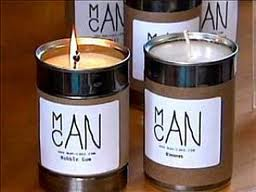 candles for men from soup cans