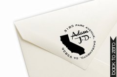 rubber stamp home state address labels