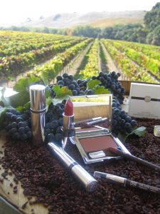 "29 Cosmetics founder Lydia Mondavi sources grape seed oil straight from Napa Valley, ""Every product in our cosmetic bag should be beneficial and protect our skin from aging."""