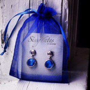 Sissy Yates Designs Gretchen Earrings in Blue