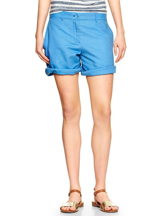 Boyfriend Linen Shorts $44.95 at gap.com