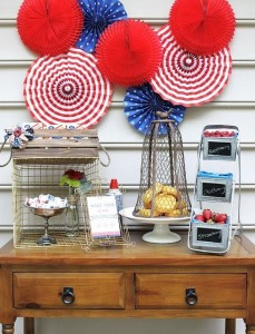 celebrations at home 4th of july display
