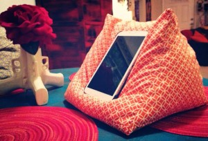bean bag iPad stand