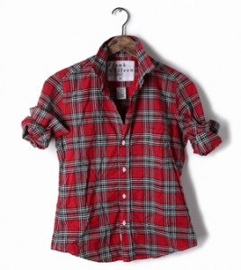 Lasses Flannel shirt available at Frank&Eileen.com
