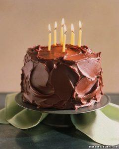 devil's food birthday cake