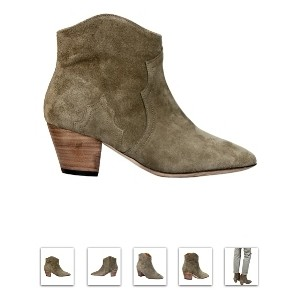 Isabel Marant Dicker bootie available at Polyvore.com