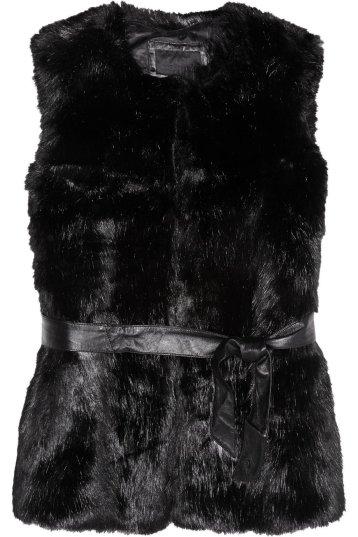 KARL LAGERFELD Eveline faux fur gilet $375 KARL LAGERFELD Eveline faux fur jacket $545