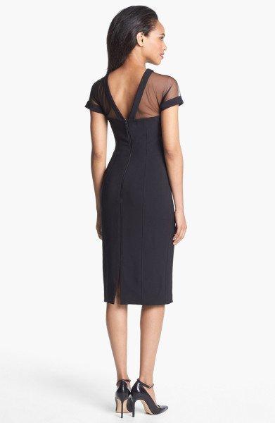 Maggy London Illusion Yoke Crepe Sheath Dress $148 at Nordstrom