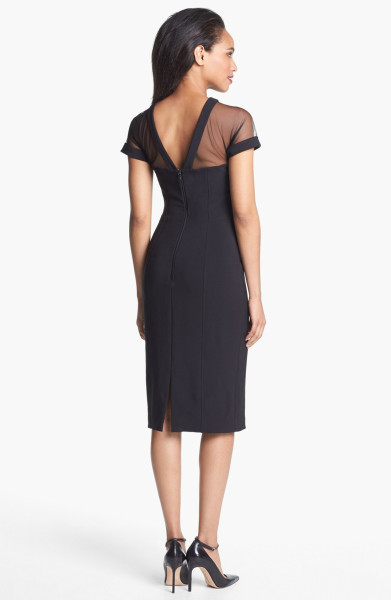 Maggy London Illusion Yoke Crepe Sheath Dress $148 at Nordstrom