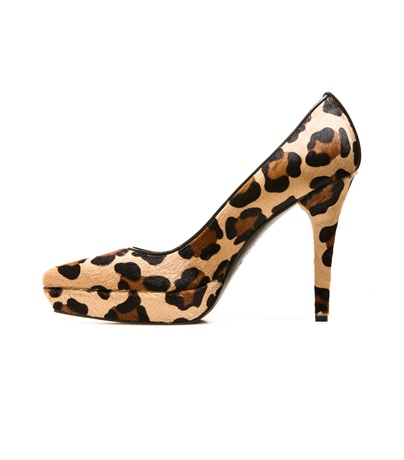 THE PIPEPOINT PUMP  COGNAC LEOPARD HAIR $495 | $248 (50%) at Stuartweitzman.com