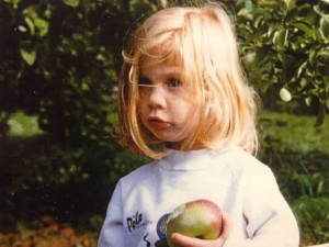 Melissa as baby