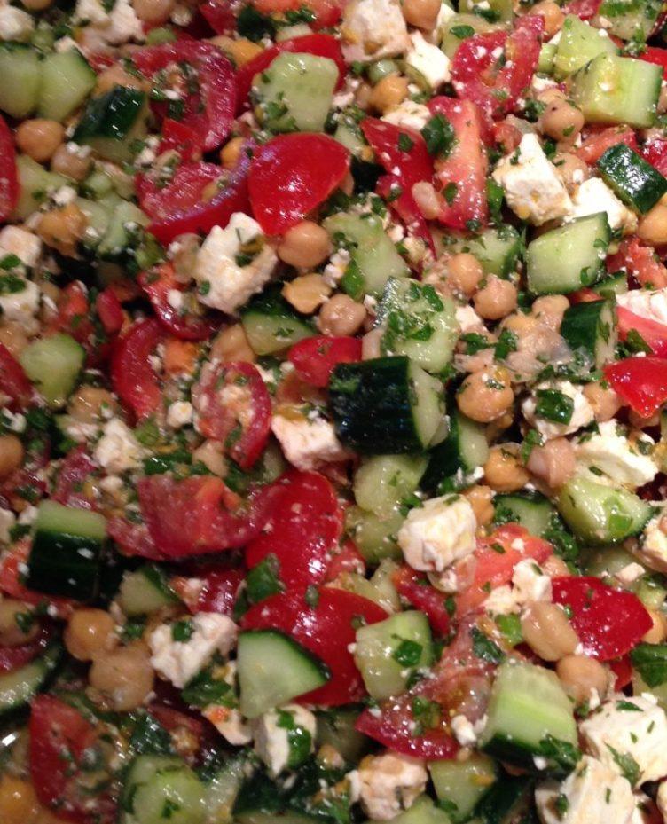 Summer salads mediterranean salad