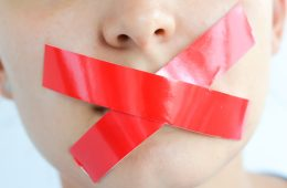 taped mouth, silence