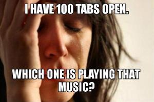 tabs open on desktop