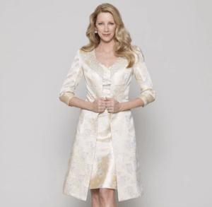 fashion wedding dress for older bride