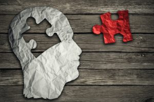 Puzzle head brain concept