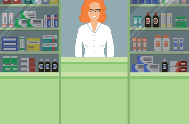 young woman pharmacist
