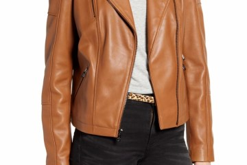 Sam Edelman Lambskin Leather Moto Jacket $239.90