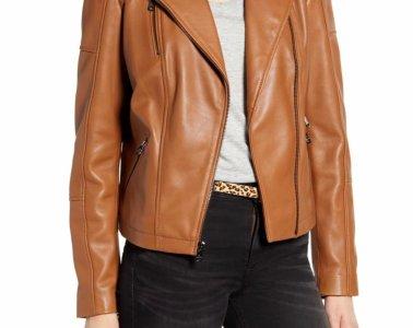 Sam Edelman Lambskin Leather Moto Jacket $239.90