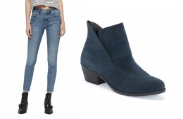 Jeans and blue bootie