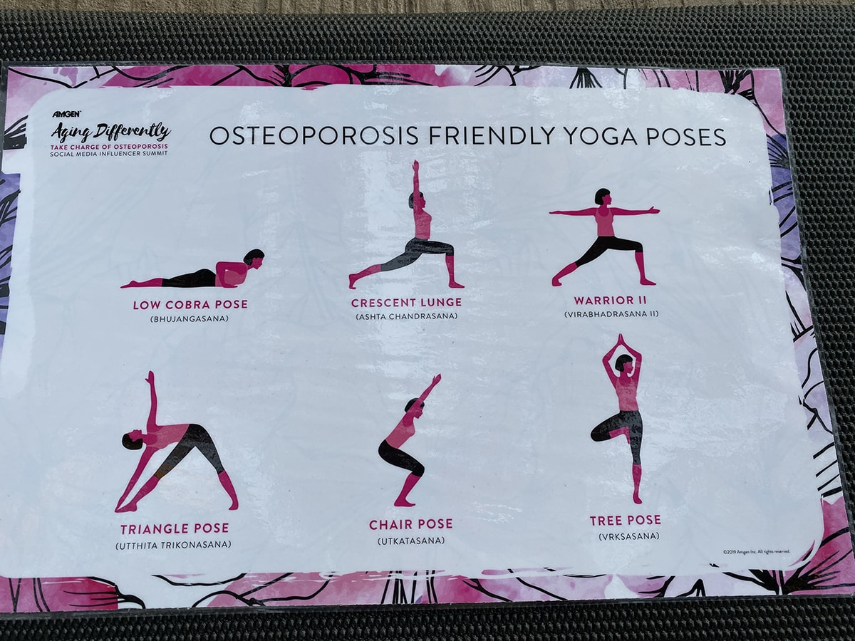 Osteoporosis-friendly yoga poses