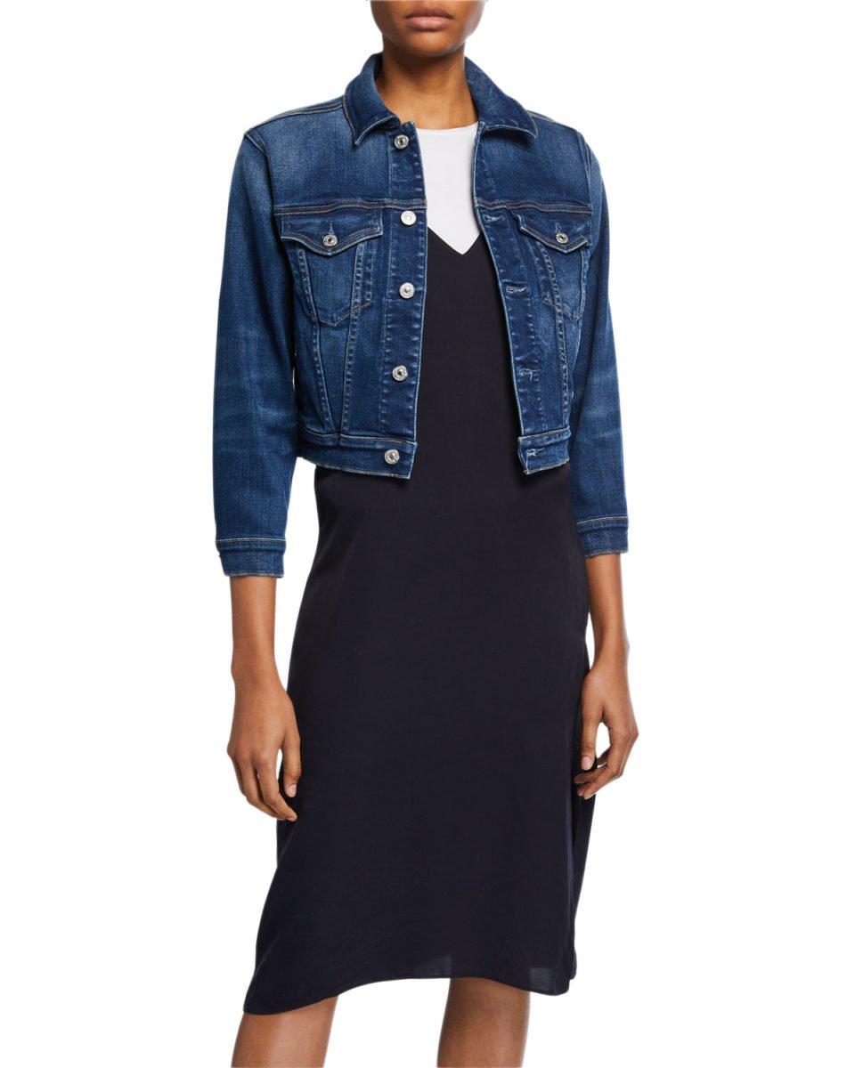 Neiman Marcus 7 For All Mankind Shrunken Denim Jacket -$295