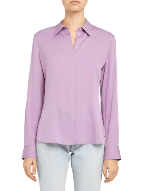 Classic Fitted Silk-Blend Shirt