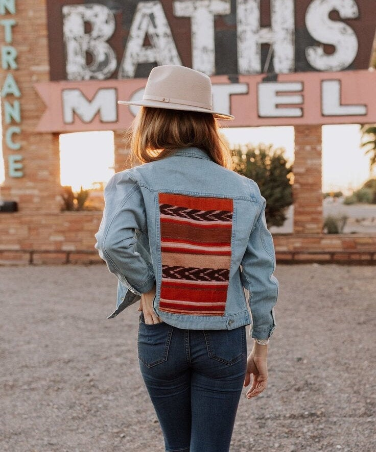Etsy-Embroidered Denim Jacket -$92