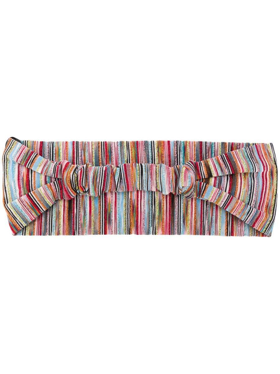 Metallic Threaded Striped Headband