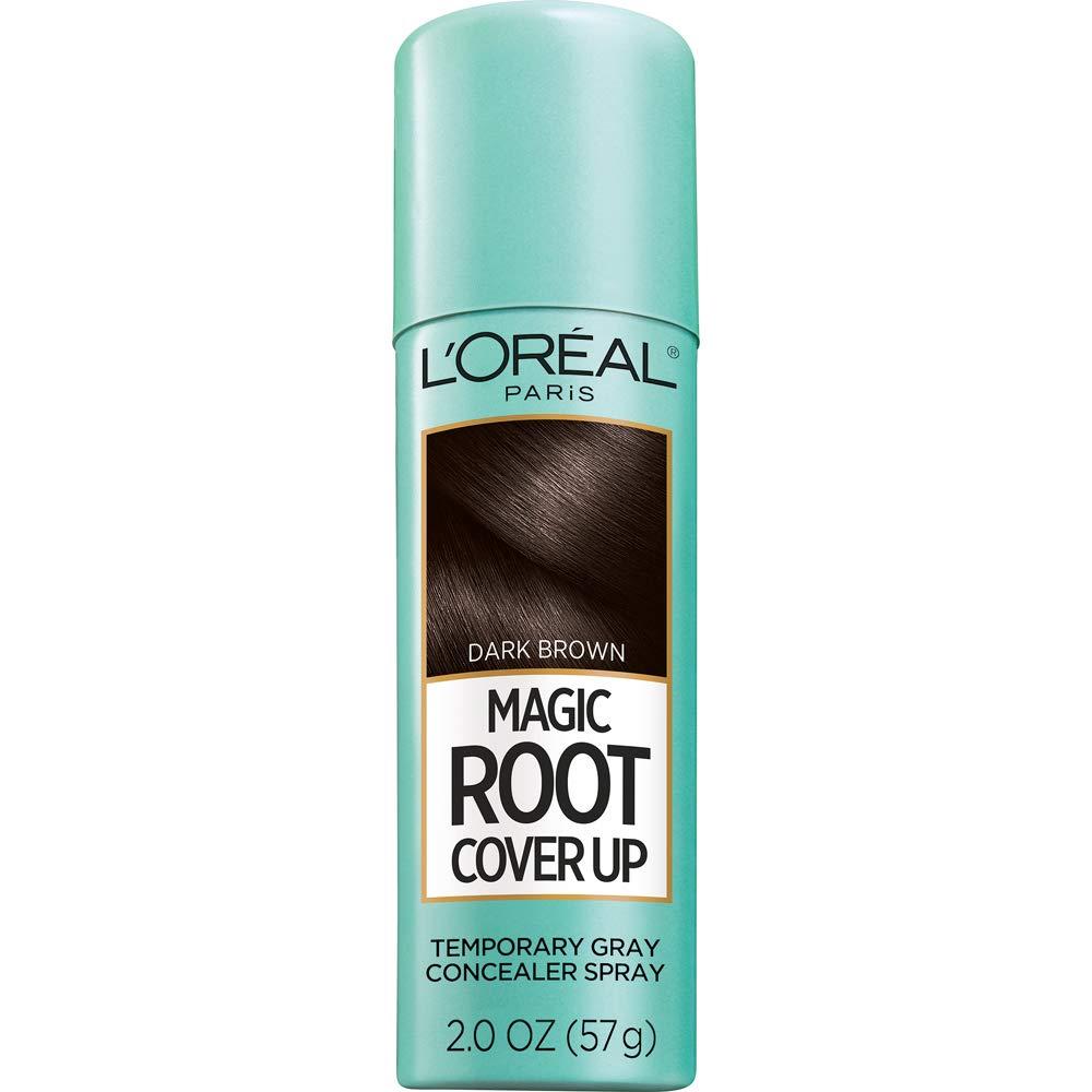 L'Oreal Paris Magic Root Cover Up Gray Concealer Spray Dark Brown