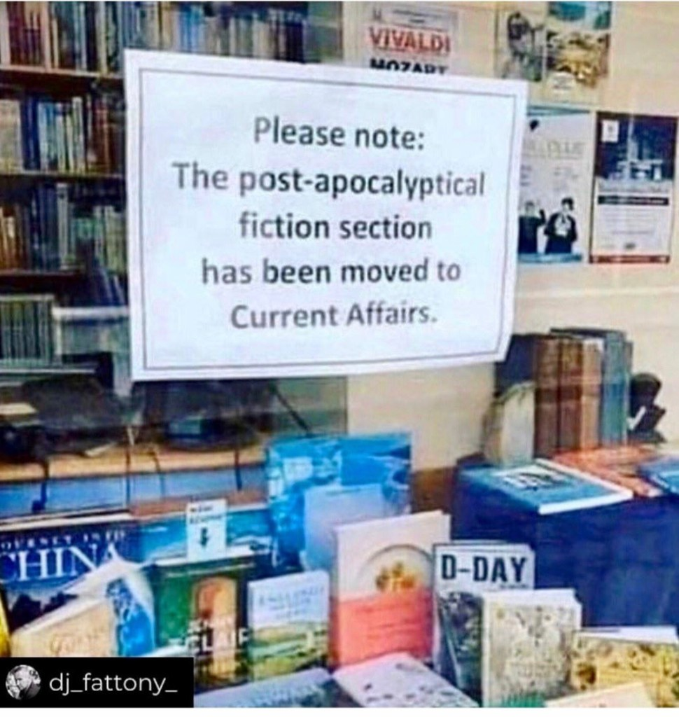 Please note: the post-apocalyptical fiction section has been moved to current affairs.