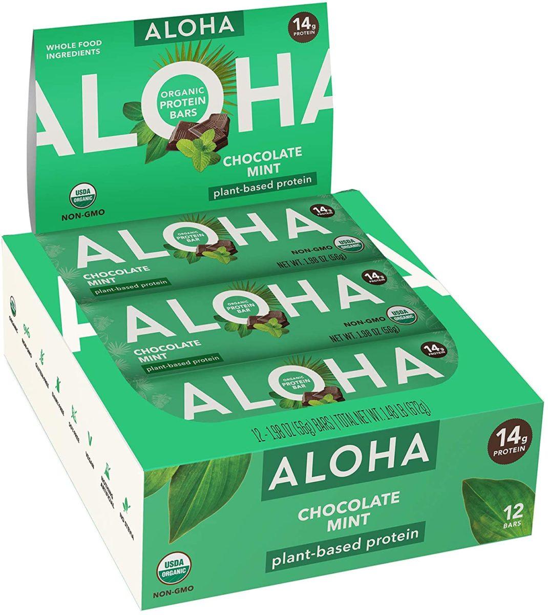ALOHA Organic Plant Based Protein Bars