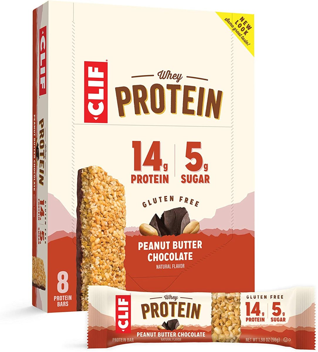 CLIF Whey Protein - Snack Bars - Peanut Butter & Chocolate Flavor