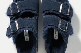 Birkenstock Arizona Genuine Shearling Slide Sandal $149.95