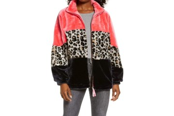 UGG Elaina Colorblock Faux Fur Coat $148