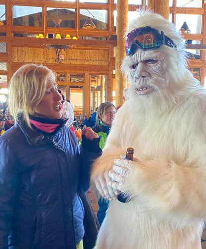 Felice and a Yeti