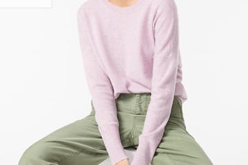 Cashmere crewneck boyfriend sweater $79.50