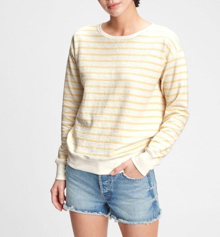 Textured Crewneck Sweatshirt $37