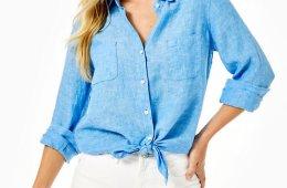 Sea View Linen Shirt $98