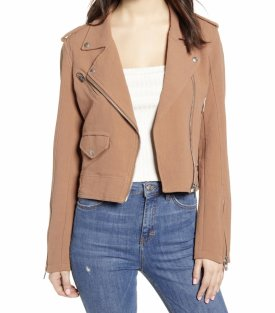BlankNYC Textured Cotton Moto Jacket $98.00