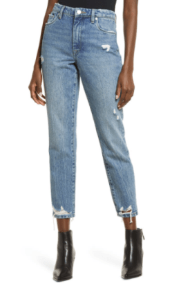The Madison Ripped Cropped Straight Leg Jeans $54.90