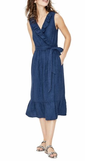 Boden Nancy Linen Midi Dress $101.98