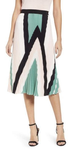 Leith Pleated Midi Skirt