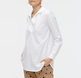 High-low popover tunic top $32