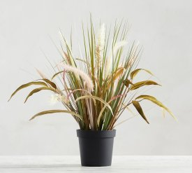 Faux Potted Wild Grass $55
