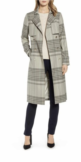 Ted Baker London Buckle Cuff Check Trench Coat $609.00