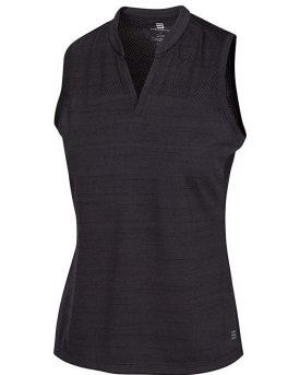 sleeveless collarless tank