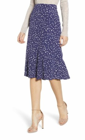 Leith High Waist Print Midi Skirt $69.00