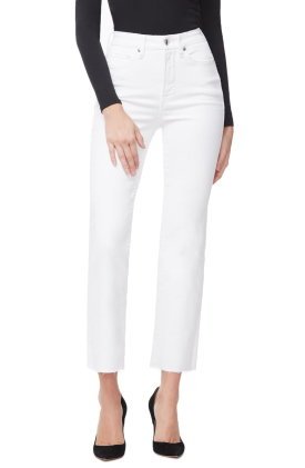 Good American Good Curve High Waist Ankle Straight Leg Jeans $159.00